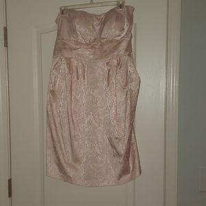 Blush Strapless Dress